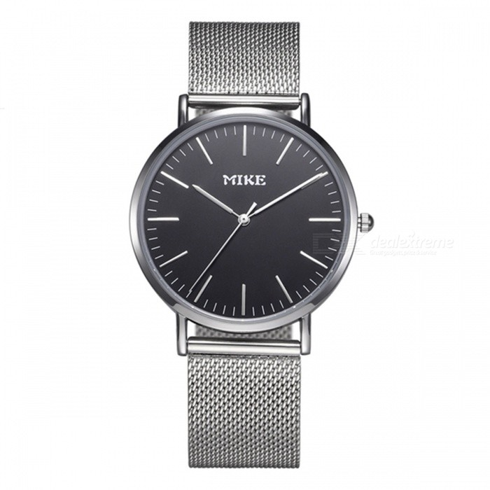 MIKE 8070 Simple Style Unisex Quartz Watch - Silver, BlackQuartz Watches<br>Form  ColorSilver BlackModel8070Quantity1 DX.PCM.Model.AttributeModel.UnitShade Of ColorSilverCasing MaterialAlloyWristband MaterialMetalSuitable forCoupleGenderUnisexStyleWrist WatchTypeFashion watchesDisplayAnalogBacklightNoMovementQuartzDisplay Format12 hour formatWater ResistantFor daily wear. Suitable for everyday use. Wearable while water is being splashed but not under any pressure.Dial Diameter4 DX.PCM.Model.AttributeModel.UnitDial Thickness1 DX.PCM.Model.AttributeModel.UnitWristband Length23 DX.PCM.Model.AttributeModel.UnitBand Width2 DX.PCM.Model.AttributeModel.UnitBattery626Packing List1 x Watch<br>