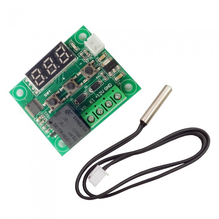 DC-12V High-Precision Micro-Digital Thermostat (Red Light)