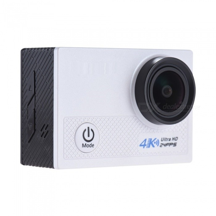 32GB 1080P 4K HD Anti-shake Wi-Fi Sports Camera with Gyroscope - WhiteSport Cameras<br>Form  ColorWhite + 32GB MemoryShade Of ColorWhiteMaterialABS + PVC + PCQuantity1 DX.PCM.Model.AttributeModel.UnitImage SensorOthers,Adopt for Sony IMX078 1/2.3 CMOSAnti-ShakeYesFocal DistanceLens Range: 170°, 140°, 110°, 70° Selectable DX.PCM.Model.AttributeModel.UnitFocusing RangeLens Range: 170°, 140°, 110°, 70° SelectableWide AngleF=2.0 f/3mmEffective PixelsVideo Resolution: UHD P24(2880 * 2160) (interpolation), QHD P30(2560 * 1440), FHD P60/30(1920 * 1080), HD P120/60/30(1280 * 720), WVGA P30(848 * 480), VGA P240/30(640 * 480), QVGA P30(320 * 240)ImagesJPGStill Image Resolution20M(5120 * 3840), 16M(4608 * 3456), 12M(4032 * 3024), 10M(3648 * 2736), 8M(3264 * 2448), 5M(2594 * 1944), 3M(2048 * 1536), VGA(640 * 480)VideoMP4Video ResolutionUHD P24(2880 * 2160) (interpolation), QHD P30(2560 * 1440), FHD P60/30(1920 * 1080), HD P120/60/30(1280 * 720), WVGA P30(848 * 480), VGA P240/30(640 * 480), QVGA P30(320 * 240)Video Frame Rate30,60Cycle RecordYesISOOthers,Auto/100/200/400Exposure CompensationNoSupports Card TypeSDSupports Max. Capacity64 DX.PCM.Model.AttributeModel.UnitBuilt-in Memory / RAM32GBLCD ScreenYesScreen Size2.0 DX.PCM.Model.AttributeModel.UnitBattery Measured Capacity 950 DX.PCM.Model.AttributeModel.UnitNominal Capacity950 DX.PCM.Model.AttributeModel.UnitBattery included or notYesWater ResistantOthers,The camera housing can go underwater 30m/98.4ft - ideal for water relative activities such as diving, surfing, swimming.Packing List1 x Action Camera with battery1 x 32GB Memory1 x Carrying Case1 x USB Cable1 x Waterproof Housing1 x Case Backdoor1 x Bicycle Mount1 x J-shape Mount2 x Helmet Mounts1 x Bracket1 x Clip3 x Switch Supportx1 x Fix Base2 x Adhesive Tapes4 x Bandages4 x Nylon Cables1 x Wire1 x Cleaning Cloth1 x User Manual (English)<br>