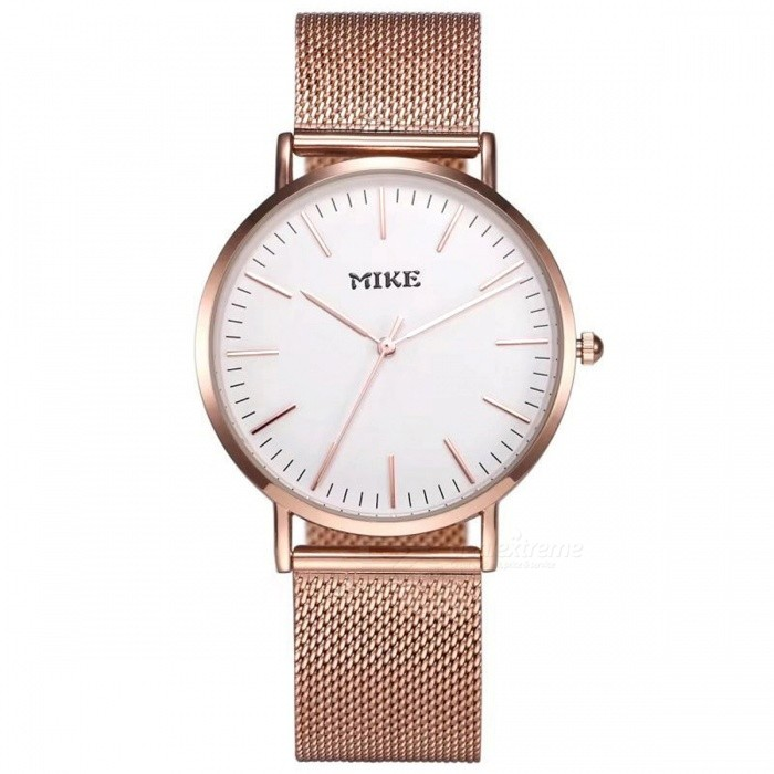 MIKE 8070 Simple Style Unisex Quartz Watch - Rose Gold, WhiteQuartz Watches<br>Form  ColorWhite + Rose GoldenModel8070Quantity1 pieceShade Of ColorWhiteCasing MaterialAlloyWristband MaterialMetalSuitable forCoupleGenderUnisexStyleWrist WatchTypeFashion watchesDisplayAnalogBacklightNoMovementQuartzDisplay Format12 hour formatWater ResistantFor daily wear. Suitable for everyday use. Wearable while water is being splashed but not under any pressure.Dial Diameter4 cmDial Thickness1 cmWristband Length23 cmBand Width2 cmBattery626Packing List1 x Watch<br>