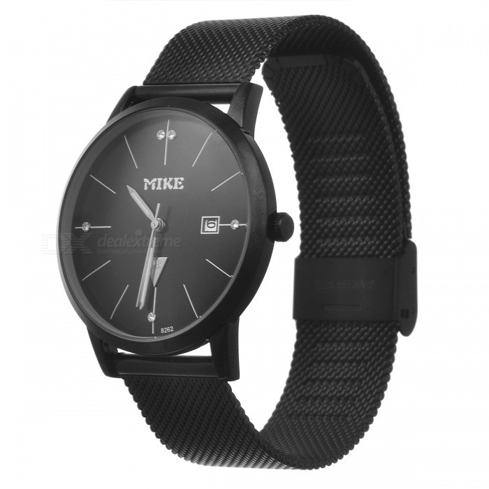 MIKE Unisex Stylish Quartz Metal Wrist Watch for Men Women - BlackQuartz Watches<br>Form  ColorBlackModel8262Quantity1 DX.PCM.Model.AttributeModel.UnitShade Of ColorBlackCasing MaterialAlloyWristband MaterialMetalSuitable forAdultsGenderUnisexStyleWrist WatchTypeFashion watchesDisplayAnalogMovementQuartzDisplay Format12 hour formatWater ResistantFor daily wear. Suitable for everyday use. Wearable while water is being splashed but not under any pressure.Dial Diameter3.5 DX.PCM.Model.AttributeModel.UnitDial Thickness1 DX.PCM.Model.AttributeModel.UnitWristband Length24 DX.PCM.Model.AttributeModel.UnitBand Width2 DX.PCM.Model.AttributeModel.UnitBattery626Packing List1 x Watch<br>