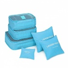 6Pcs / Set Travel Home Luggage Storage Bag - Blue