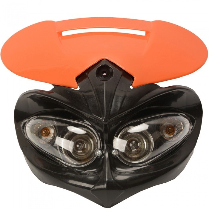 CARKING Universal LED Motorcycle Headlight Enduro Cross Lamp - Orange