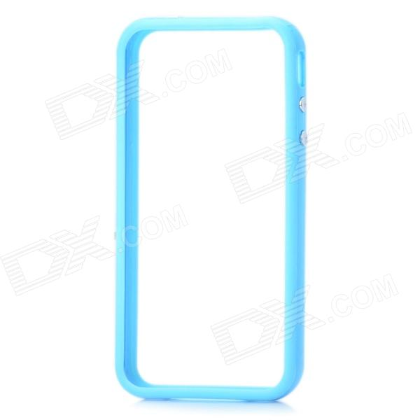 Stylish Protective Bumper Frame Case for Iphone 4 / 4S - Blue stylish aluminum alloy protective bumper frame set for iphone 4 4s black red