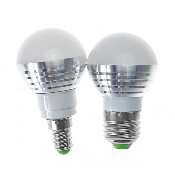 Ampoules Rvb Led E27 Ir 3w Télécommande Lampe WhiteArgent Ibvf76ygmY