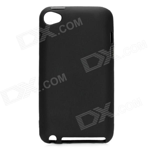 Protective TPU Plastic Back Case for Ipod Touch 4 - Black