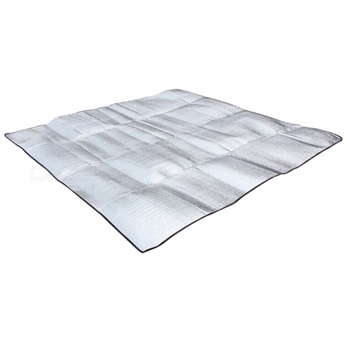Windpoof Foldable Sleeping Camping Mattress Mat Pad - SilverSleeping Pad<br>Form  ColorSilver (L)Quantity1 DX.PCM.Model.AttributeModel.UnitMaterialAluminum Foil, EVABest UseFamily &amp; car camping,CampingSleeping Pad TypeOthers,Aluminum Foil EVASleeping Pad ShapeOthers,N/APacking List1 x Camping Mat<br>