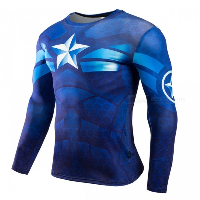 cba9415ee112 3D Printing Quick Dry Long-Sleeve Tight Fitting Male T-shirt - Free ...