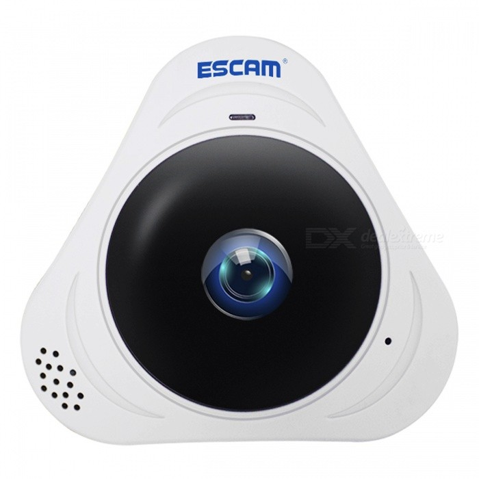 ESCAM Q8 HD 960P 360 graders panoramaskärm Fisheye Camera (UK Plug)