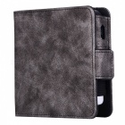 Kelima retro style leather electronic cigarette case - dark grey