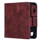 Kelima retro style leather electronic cigarette case - red