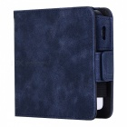 Kelima retro style leather electronic cigarette case - blue