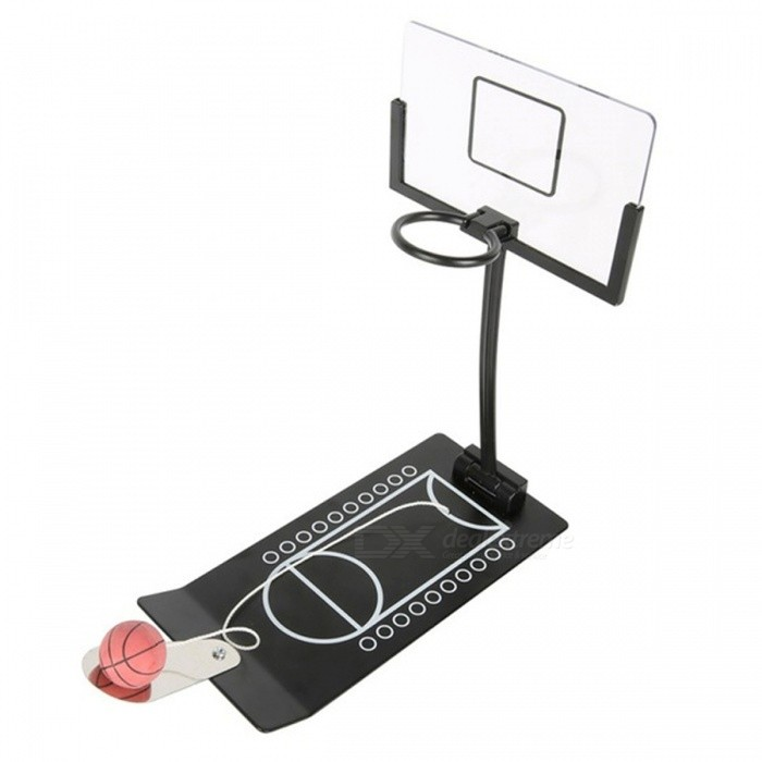 Mini Foldable Basketball Game Stress Release Toy - BlackTable Games<br>Form  ColorBlackMaterialMetalQuantity1 DX.PCM.Model.AttributeModel.UnitMin-player1Suitable Age 5-7 years,8-11 years,12-15 years,Grown upsPacking List1 x Toy<br>
