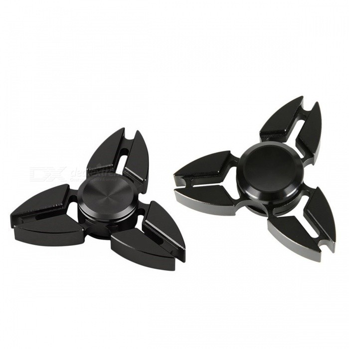 Aluminum Alloy Tri-Spinner Finger Gyro Toys - Black (2 PCS)Finger Toys<br>Form  ColorBlackModelNX-12MaterialAluminum alloyQuantity1 DX.PCM.Model.AttributeModel.UnitSuitable Age 3-4 years,5-7 years,8-11 years,12-15 years,Grown upsCertificationASTM F963Packing List2 x Finger gyros<br>