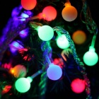 KWB 10m 100-LED Färgrikt Rund Ball Holiday Light String (EU Plug)