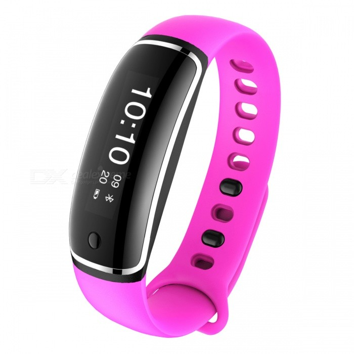 M4 Sports Smart Bracelet Band IP67 Heart Rate Monitoring - Purple RedSmart Bracelets<br>Form  ColorPurplish RedModelM4Quantity1 DX.PCM.Model.AttributeModel.UnitMaterialABSShade Of ColorPurpleWater-proofYesBluetooth VersionBluetooth V4.0Touch Screen TypeYesOperating SystemAndroid 4.4,Android 4.1,Android 4.2,Android 4.3,iOSCompatible OSiosBattery Capacity180 DX.PCM.Model.AttributeModel.UnitBattery TypeLi-ion batteryStandby Time8 DX.PCM.Model.AttributeModel.UnitPacking List1 x M4 Smart Band1 x Charging Cable1 x User Manual<br>