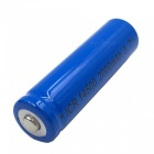 ZHAOYAO 2Pcs 3.7V 14500 2000mAh Rechargeable Lithium Battery - Blue