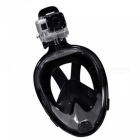 OUMILY S-M Full Face Snorkeling Diving Swimming Mask for Gopro - Black