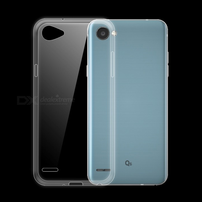 Dayspirit Ultra-Thin TPU Back Cover Case for LG Q6TPU Cases<br>Form  ColorTransparentModelN/AMaterialTPUQuantity1 pieceShade Of ColorTransparentCompatible ModelsLG Q6Packing List1 x Case<br>