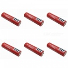 ZHAOYAO 6Pcs 3.7V 18650 3000mAh Rechargeable Lithium Battery - Red