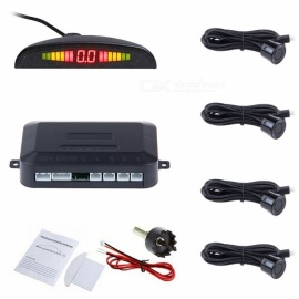 Car Auto Parktronic LED Parking Sensors with Backlight Display - Black