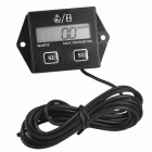 Premium Digital Engine Tach Tachometer Hour Meter - Black