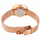 MIKE Damenmode Quarz Armbanduhr - Rose Golden + Schwarz
