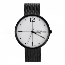MIKE 8565 Men's Fashion Quartz Wrist Watch - White + Black