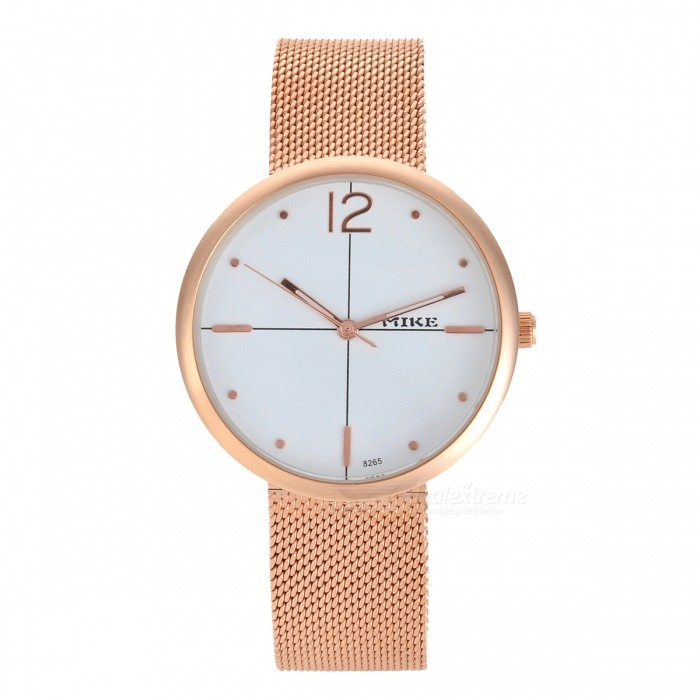 Womens Fashion Quartz Wrist Watch - Golden + WhiteQuartz Watches<br>Form  ColorWhite + GoldenModel8265Quantity1 DX.PCM.Model.AttributeModel.UnitShade Of ColorWhiteCasing MaterialAlloyWristband MaterialMetalSuitable forAdultsGenderWomenStyleWrist WatchTypeFashion watchesDisplayAnalogMovementQuartzDisplay Format12 hour formatWater ResistantFor daily wear. Suitable for everyday use. Wearable while water is being splashed but not under any pressure.Dial Diameter2.7 DX.PCM.Model.AttributeModel.UnitDial Thickness1 DX.PCM.Model.AttributeModel.UnitWristband Length21.5 DX.PCM.Model.AttributeModel.UnitBand Width1.3 DX.PCM.Model.AttributeModel.UnitBattery626Packing List1 x Watch<br>