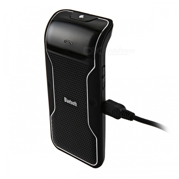 Car Bluetooth Handsfree Receiver Speaker with Charger - BlackOther Bluetooth Devices<br>Form  ColorBlackModelN/AMaterialPlastic + alloyQuantity1 pieceShade Of ColorBlackBluetooth VersionBluetooth V4.0Bluetooth ChipCSROperating Range10MStandby Time100 hourApplicable ProductsIPHONE 5,IPHONE 4,IPHONE 4S,IPHONE 3G,IPHONE 3GS,IPHONE 5S,IPHONE 5CBuilt-in Battery Capacity 560 mAhPower AdapterUSBPower Supply3.7V 0.5APacking List1 x Bluetooth Handsfree Speakerphone1 x Car Charger1 x USB cable1 x User Manual1 x Iron Holder<br>