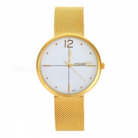 MIKE 8565 Men's Fashion Quartz Wrist Watch - White + Golden