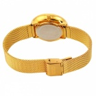 MIKE 8565 Herrenmode Quarz Armbanduhr - Weiß + Golden