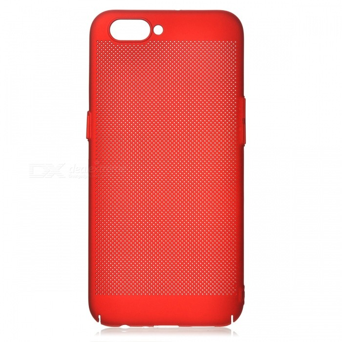 Protective Breathable Mesh Plastic Case for OPPO R11 - RedPlastic Cases<br>Form  ColorRedModelN/AMaterialPlasticQuantity1 pieceShade Of ColorRedCompatible ModelsOPPO R11FeaturesAnti-slip,Shock-proof,Abrasion resistancePacking List1 x Case<br>