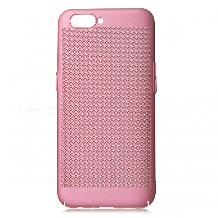 Protective Breathable Mesh Plastic Case for OPPO R11 - PinkPlastic Cases<br>Form  ColorPinkModelN/AMaterialPlasticQuantity1 pieceShade Of ColorPinkCompatible ModelsOPPO R11FeaturesAnti-slip,Shock-proof,Abrasion resistancePacking List1 x Case<br>