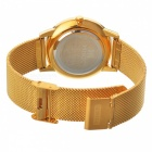MIKE Unisex Stilig Quartz Metal Armbandsur - Guld + Orange