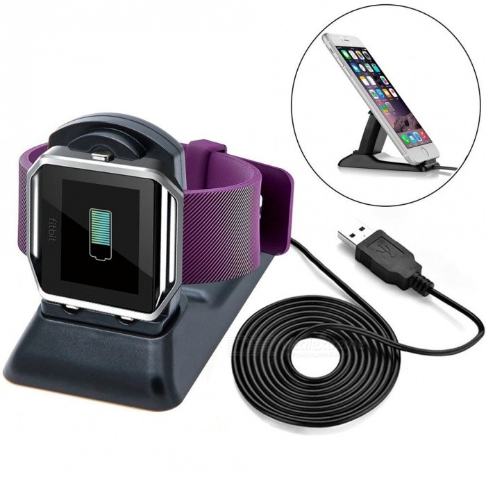 BLCR Charger Cradle for Fitbit Blaze Smart Fitness WatchWearable Device Accessories<br>Form  ColorBlackQuantity1 DX.PCM.Model.AttributeModel.UnitMaterialABS + PCPacking List1 x Charging Dock with Cable<br>
