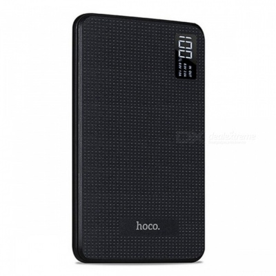 HOCO B24 30000mAh Power Bank with LCD Display - Black