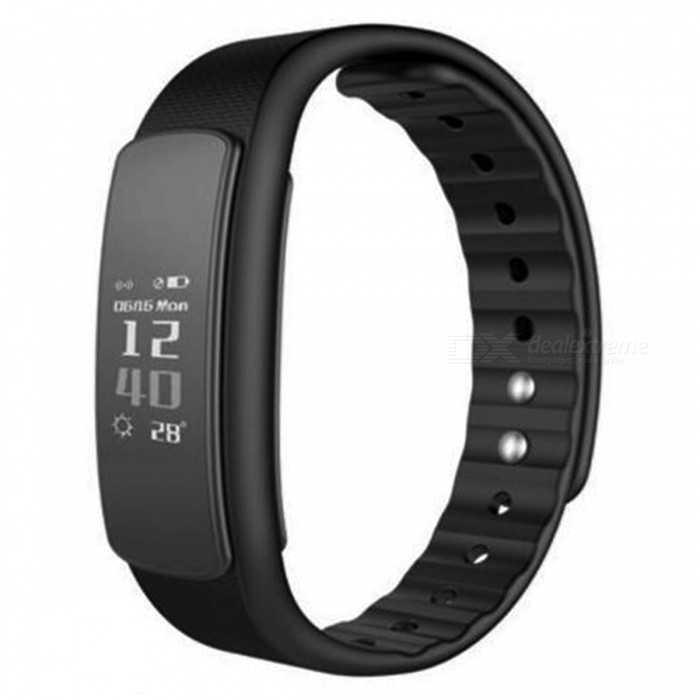 IWOWN I6 HR Smart Bracelet with Heart Rate Monitor - BlackSmart Bracelets<br>Form  ColorBlackModelI6 HRQuantity1 pieceMaterialTPU + TPEShade Of ColorBlackWater-proofIP67Bluetooth VersionBluetooth V4.0Touch Screen TypeOthers,OLEDCompatible OSAndroid 4.4 and above, IOS 8.0 and above, with Bluetooth 4.0Battery Capacity75 mAhBattery TypeLi-ion batteryStandby Time5~7 daysPacking List1 x Smart Wristband1 x English Manual<br>