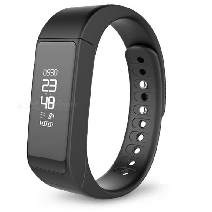Original Iwown i5 Plus IP65 Waterproof Smart Bracelet - BlackSmart Bracelets<br>Form  ColorBlackModelI5 PlusQuantity1 DX.PCM.Model.AttributeModel.UnitMaterialPlasticShade Of ColorBlackWater-proofIP65Bluetooth VersionBluetooth V3.0Touch Screen TypeOthers,OLEDCompatible OSAndroid 4.3 and above, IOS 8.0 and above, with Bluetooth 4.0Battery Capacity75 DX.PCM.Model.AttributeModel.UnitBattery TypeLi-ion batteryStandby Time5~7 DX.PCM.Model.AttributeModel.UnitPacking List1 x Smart Wristband1 x English Manual<br>