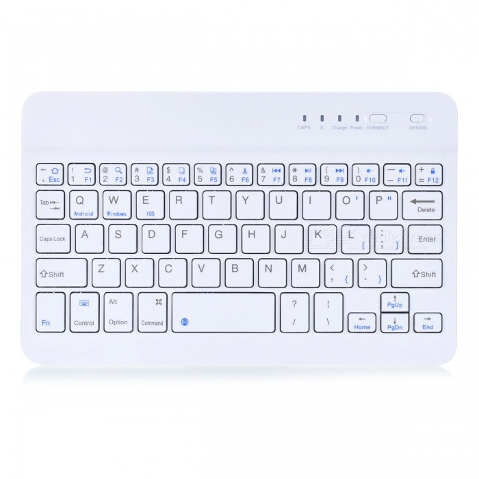 Ultra Slim Aluminum 59 keys Wireless Bluetooth Keyboard - White - Free Shipping - DealExtreme