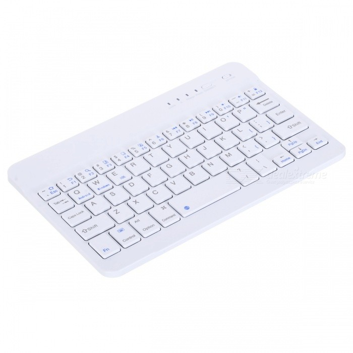 ... Ultra Slim Aluminum 59 keys Wireless Bluetooth Keyboard - White ...