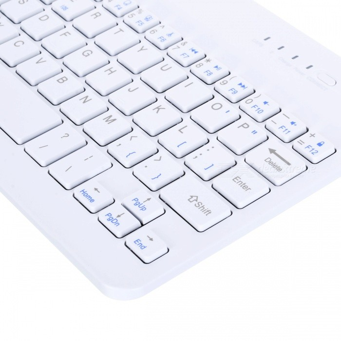 ... Ultra Slim Aluminum 59 keys Wireless Bluetooth Keyboard - White