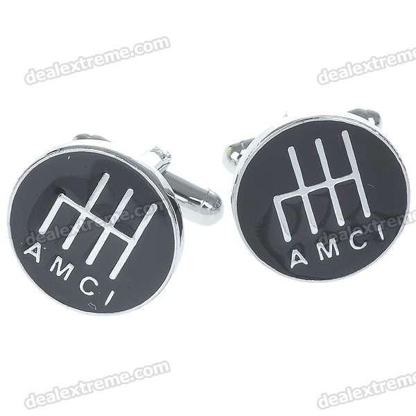 Charming Plating White Steel Cufflinks for Men - AMCI (Pair)