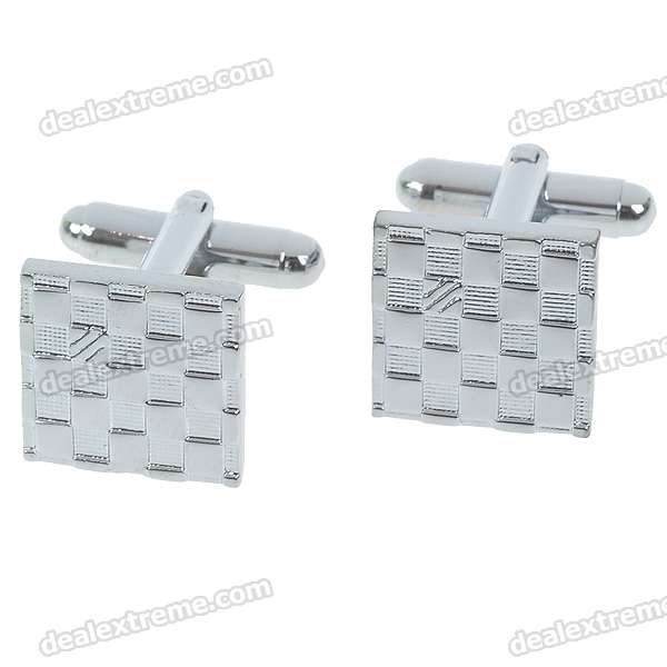 Charming Plating White Steel Cufflinks for Men - Silver (Pair)