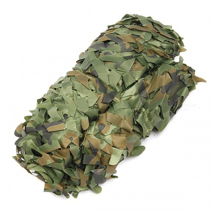 4mx2m Hunting Military Camouflage Net Camping Sun Shelter - CamouflageForm  ColorCamouflageMaterialOxford polyester clothQuantity1 piecePacking List1 x 4*2m Camouflage net<br>