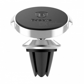 Baseus 360 Degree Magnetic Car Air Vent Phone Holder - Silver