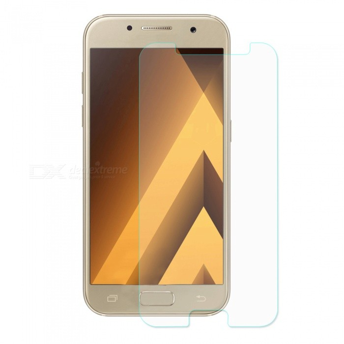 Hat-Prince 2.5D Tempered Glass Screen Protector for Galaxy A7 2017Screen Protectors<br>Form  ColorTransparentScreen TypeGlossyModel-MaterialTempered GlassQuantity1 pieceCompatible ModelsSamsung Galaxy A7 2017Features2.5D,HD,Scratch-proof,Tempered glassPacking List1 x Screen protector1 x Dust remover1 x Cleaning cloth1 x Alcohol prep pad<br>