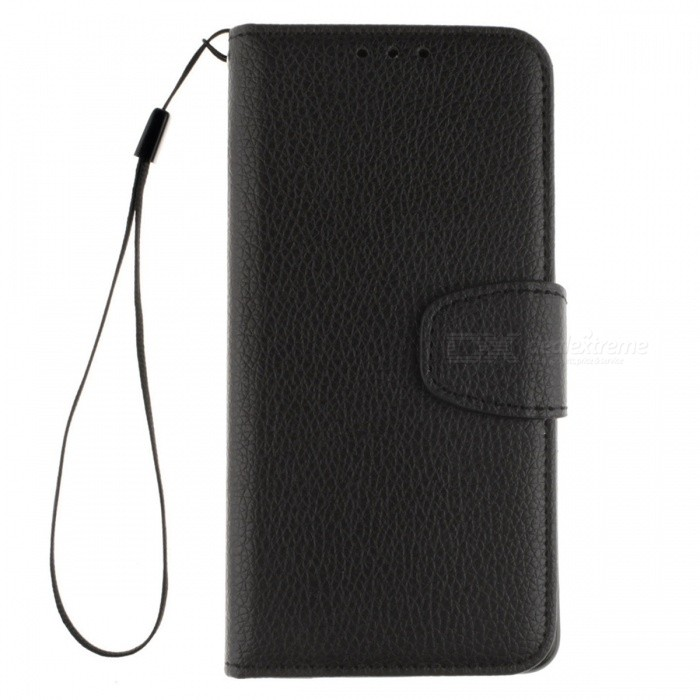 Dayspirit Lichee Pattern Leather Case for OnePlus X - BlackLeather Cases<br>Form  ColorBlackModelN/AMaterialPU leatherQuantity1 pieceShade Of ColorBlackCompatible ModelsOnePlus XFeaturesAnti-slip,Dust-proof,Abrasion resistance,Holder functionPacking List1 x Case1 x Lanyard<br>