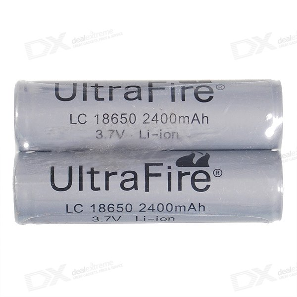 Ultrafire Protected 18650 3.7V 2400mAh Batteries (2-Pack) ultrafire 2400mah 3 7v protected 18650 cell