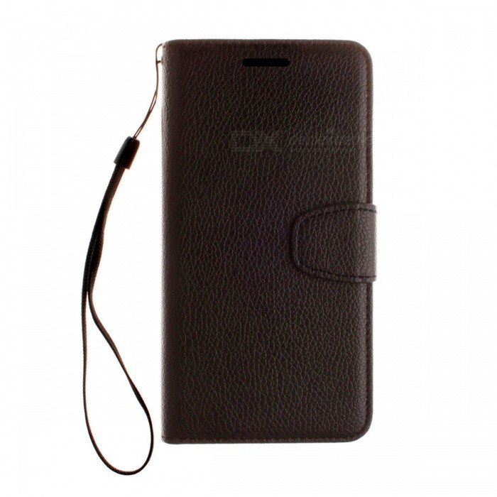Dayspirit Lichee Pattern Leather Case for IPHONE 7 4.7 - BlackLeather Cases<br>Form  ColorBlackModelN/AMaterialPU leatherQuantity1 pieceShade Of ColorBlackCompatible ModelsIPHONE 7FeaturesAnti-slip,Dust-proof,Abrasion resistance,Holder functionPacking List1 x Case1 x Lanyard<br>